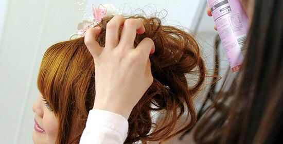 前撮り撮影時のヘアセット無料